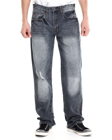 Rocawear - Men Vintage Wash R Script Denim Jeans