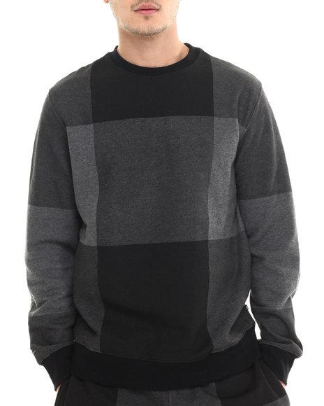 Rocawear - Men Grey Lumberjack Crew Sweatshirt