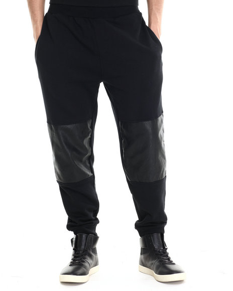Rocawear - Men Black Blocked Jogger Pants