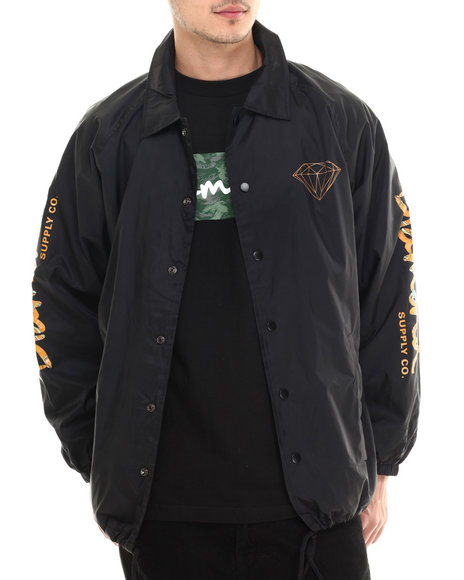 Diamond Supply Co - Men Black Low Life Coach's Jacket