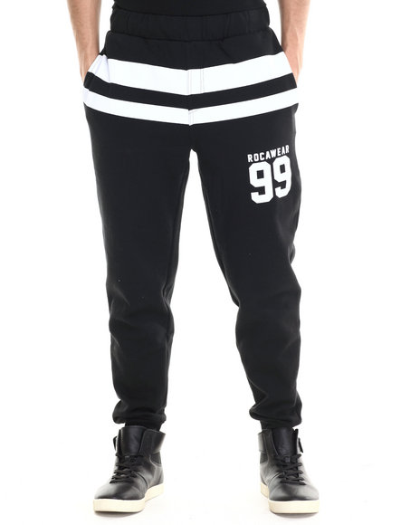 Rocawear - Men Black Striped Jogger Pants