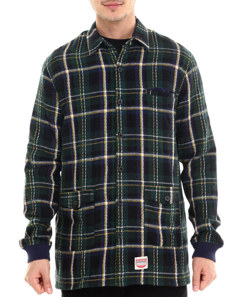 Diamond Supply Co - Men Green Plaid Shirt Jacket