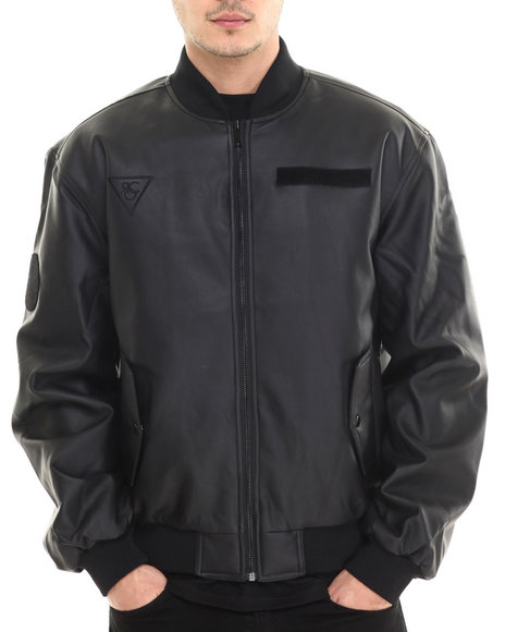 Rocawear Black Leather Jackets
