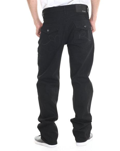 Rocawear - Men Black R Script Flap Jeans