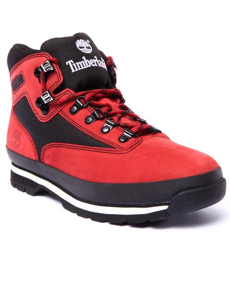 Timberland - Men Black,Red Euro Hiker Boots