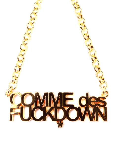 Ssur Men The Cut Comme Des Fuckdown Necklace Gold