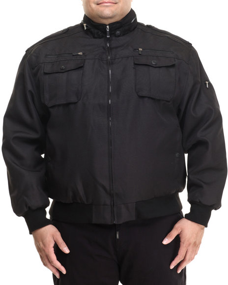 Basic Essentials - Men Black Zip Ballistic Nylon Jacket