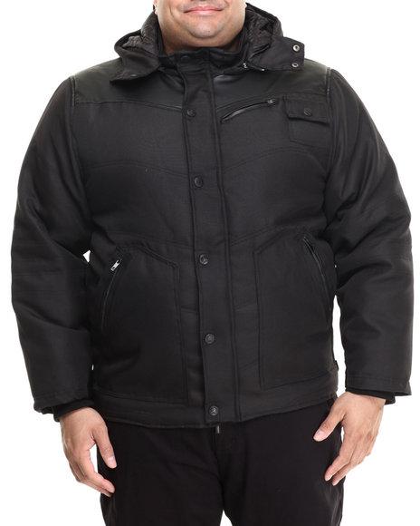 Ur-ID 213332 Basic Essentials - Men Black Heavyweight Ballistic Nylon Jacket