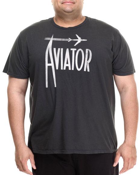 Ur-ID 213535 Jacks & Jokers - Men Charcoal Aviator Vintage S/S Tee