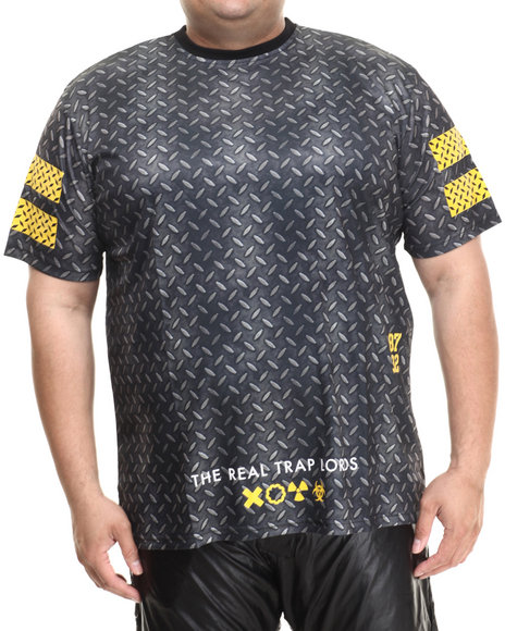 Eight 732 - Men Black Metal Knit T-Shirt (B&T)