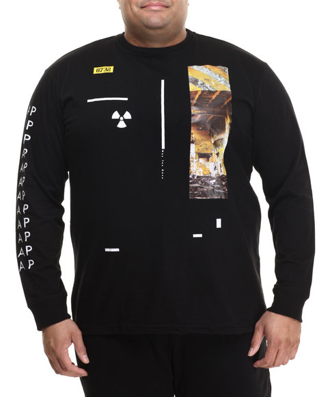 Eight 732 - Men Black Asymmetry L/S T-Shirt (B&T)