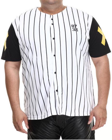 Eight 732 - Men Black,White Rusty House Baseball Jersey (B&T)