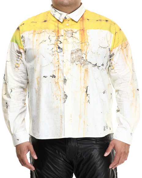 Eight 732 - Men White Rusty Wall L/S Button-Down (B&T)