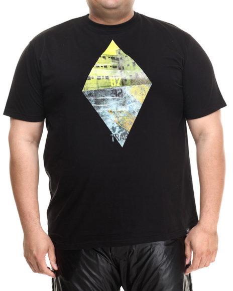 Eight 732 - Men Black Danger Zone T-Shirt (B&T)