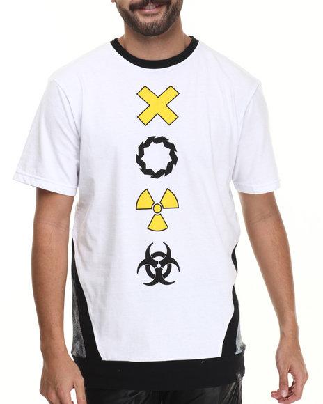 Ur-ID 213692 Eight 732 - Men White Caution Long T-Shirt