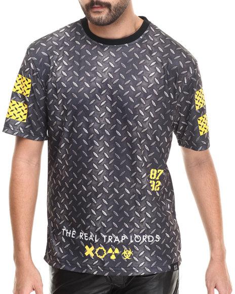 Eight 732 - Men Black Metal Knit T-Shirt