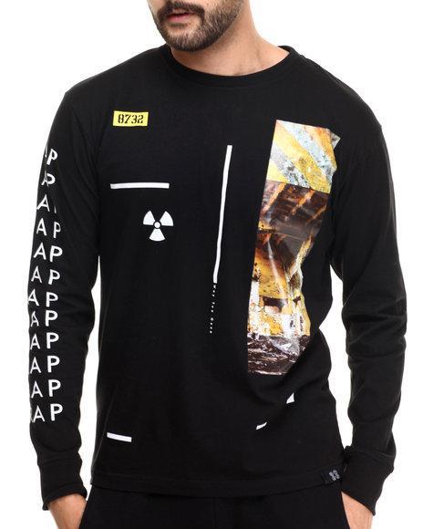 Ur-ID 213699 Eight 732 - Men Black Asymmetry L/S T-Shirt