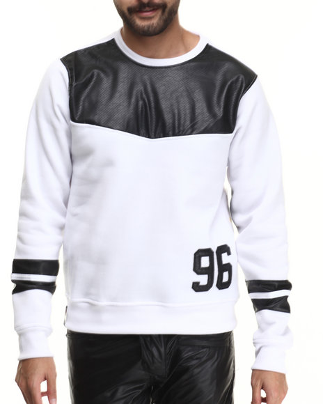 Enyce White Pullover Sweatshirts