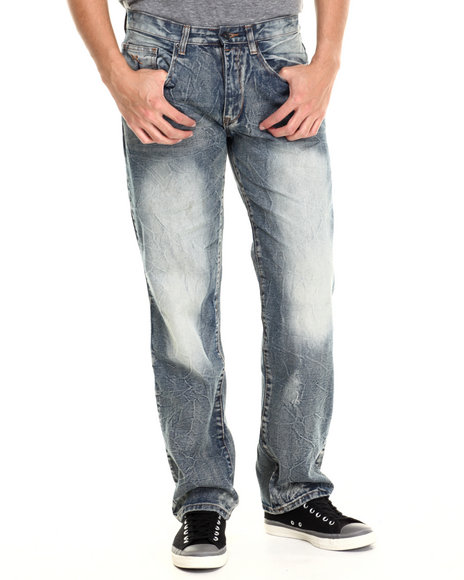 Rocawear - Men Dark Wash Rust Classic Fit Jeans