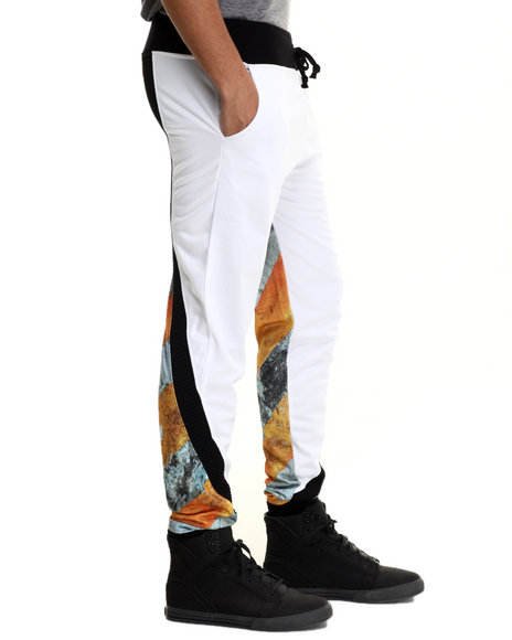 Eight 732 - Men White Caution Sweat Pant