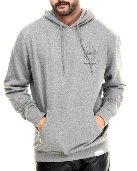 Diamond Supply Co - Men Grey Brilliant Pullover Hoodie