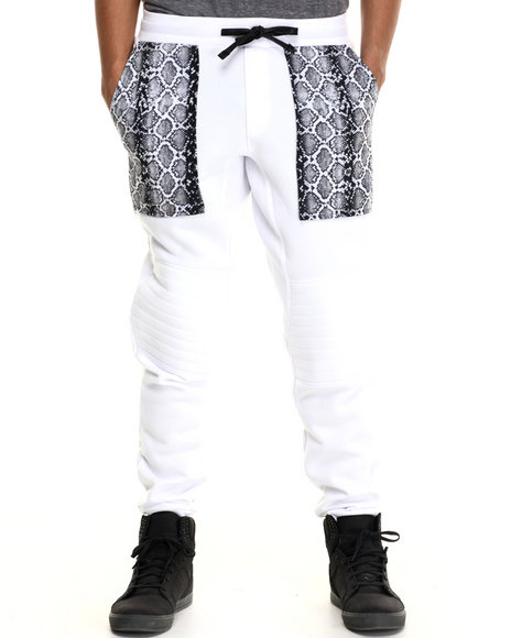Enyce - Men White Zef Jogger Pants