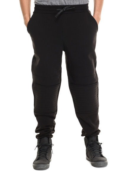 Enyce - Men Black Ducatti Fleece Sweatpant