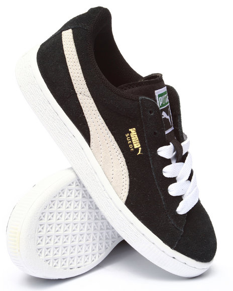 Puma - Boys Black Suede Jr Sneakers (11-7) - $37.99