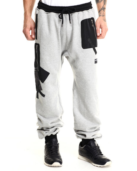Rolling Paper - Men Grey Pocket Applique Jogger