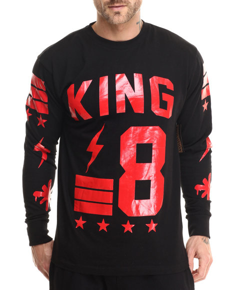 Basic Essentials - Men Black King's Court L/S Tee