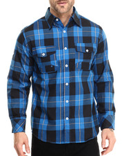 Basic Essentials - Buffalo Plaid L/S Button - Down