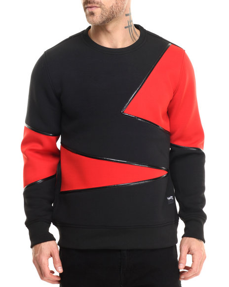 Rolling Paper - Men Black Deoprene Block Sweatshirt - $48.99