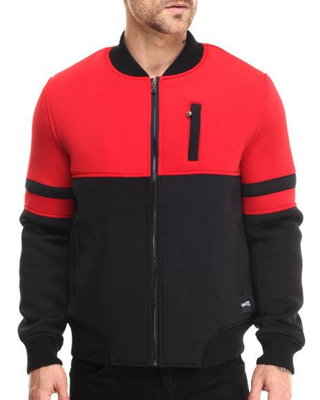 Ur-ID 213742 Rolling Paper - Men Black Cut & Sew Neoprene Jacket
