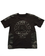 Sizes 8-20 - Big Kids - LOGO TEE W/ PU TRIM (8-20)