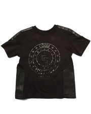 Sizes 4-7x - Kids - LOGO TEE W/ PU TRIM (4-7)