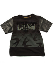 Boys - EXTENDED LENGTH TEE W/ PU TRIM (4-7)