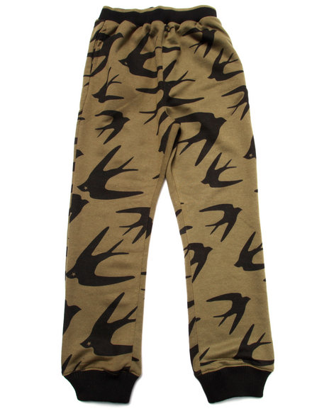 Coogi - Boys Olive Printed Joggers (8-20)