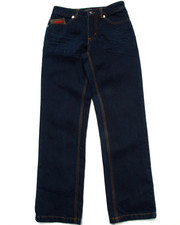 Bottoms - PU FLAP POCKET JEANS (8-20)