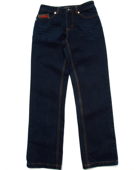 Coogi - Boys Dark Wash Pu Flap Pocket Jeans (8-20)