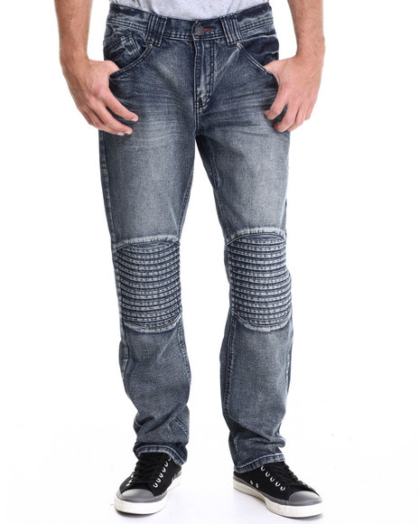 Enyce - Men Medium Wash Tron Premium Denim Jean