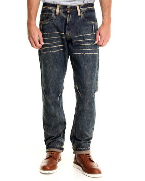Basic Essentials - Men Vintage Wash Chernobyl Denim Jeans