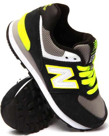 New Balance - Boys Black 574 Core Plus Sneakers (11-3)
