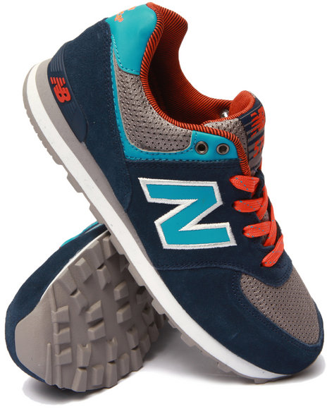 New Balance - Boys Navy Out East 574 Sneakers (3.5-7)