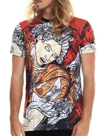 Entree - Men White Saint Michael T-Shirt - $22.99