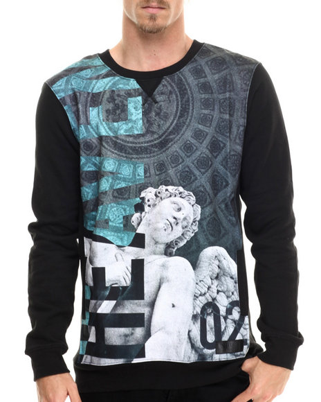 Entree - Men Black Heaven Sweatshirt