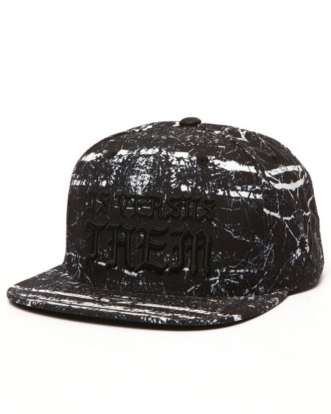Us Versus Them Men Divine Snapback Cap Black