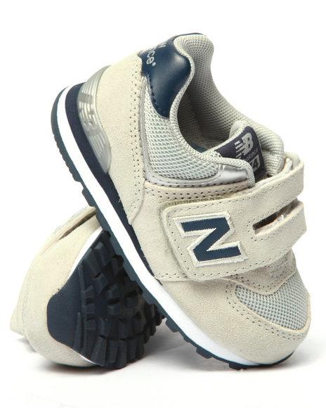 New Balance - Boys Grey 574 Sneakers (5-10)