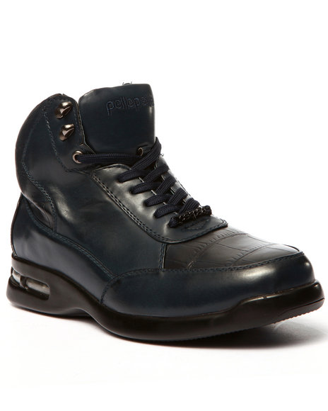 Pelle Pelle - Men Navy Faux Croc Boot - $60.99
