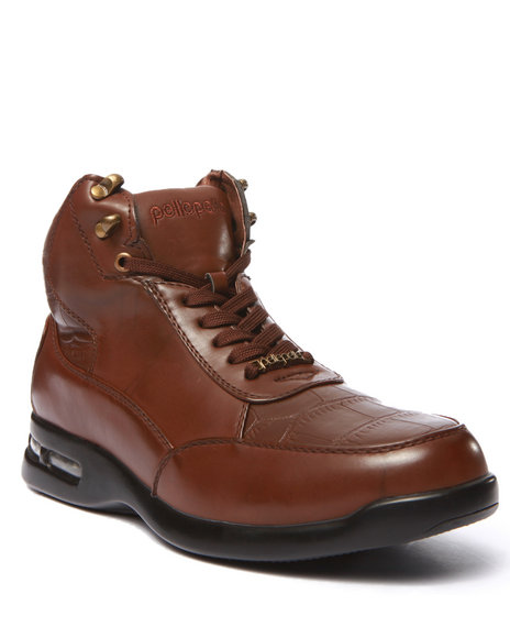 Pelle Pelle - Men Brown Faux Croc Boot - $47.99