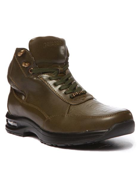 Pelle Pelle - Men Olive Pelle Faux Gator & Quilt Embosed Boot